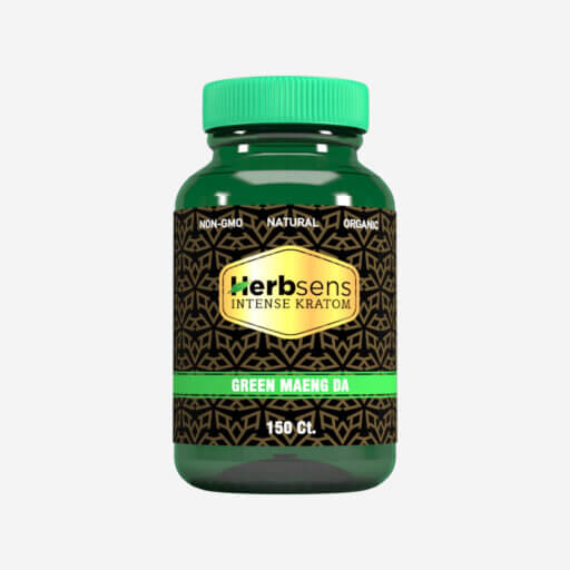 Main image of Kratom green Maeng da capsules 150ct