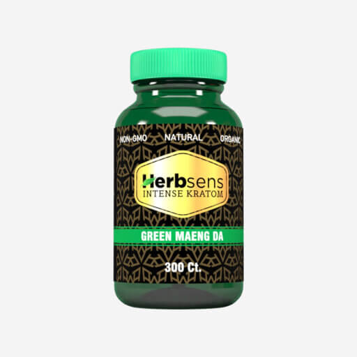 Main image of Kratom green Maeng da capsules 300ct