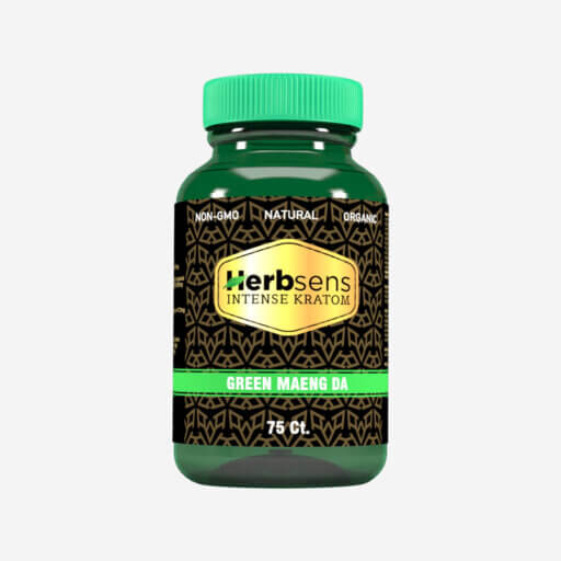 Main image of Kratom green Maeng da capsules 75ct