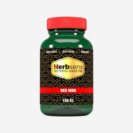 Main image of herbsens red indo kratom-capsules