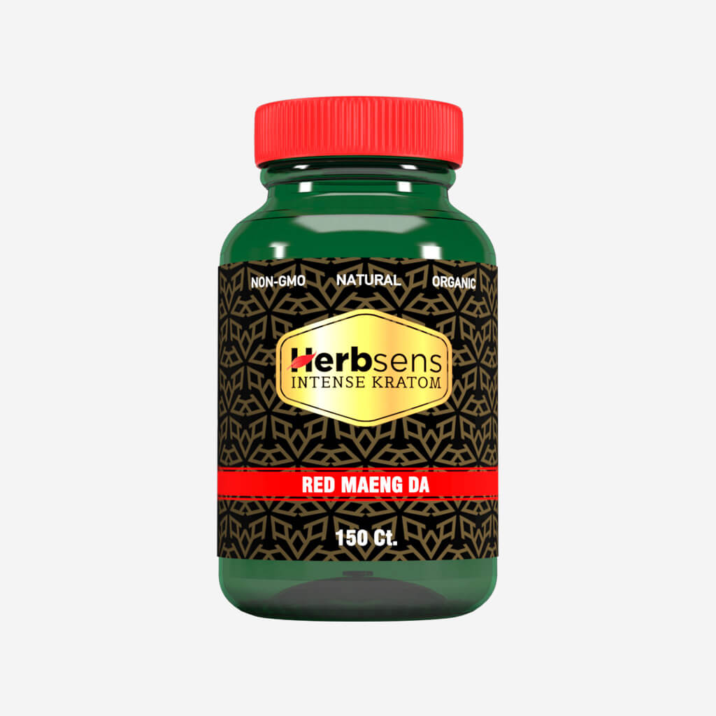 Main image of Kratom Red Maeng da capsules 150ct