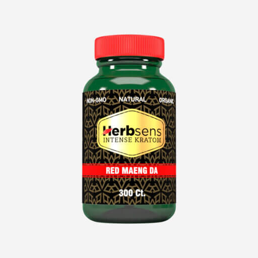 Main image of Kratom Red Maeng da capsules 300ct