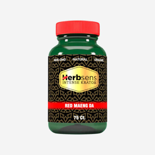 Main image of Kratom Red Maeng da capsules 75ct